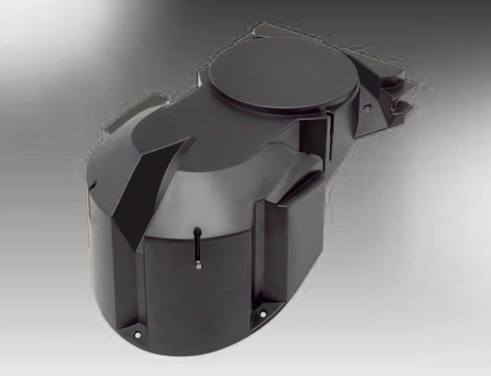TZ1-Lueftergehaeuse-aus-schwerentflammbarem-Polystyrol.-Dieses-Teil-traegt-Laufrad-und-Motor-ausserdem-sorgt-es-fuer-eine-guenstige-Fuehrung-des-Luftstromes.